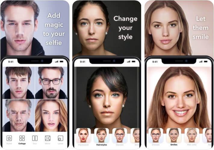 FaceApp AI Face Editor iPhone and iPad App Screenshot