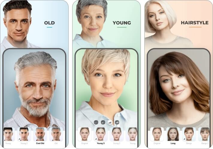 Faceapp hairstyling app for iPhone and iPad screenshot