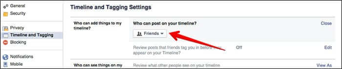 Facebook Tagging Settings