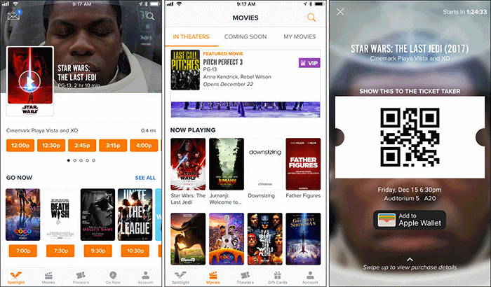 Fandango iPhone App Screenshot
