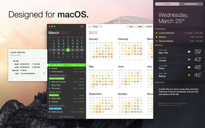 Fantastical 2 Mac App Screenshot