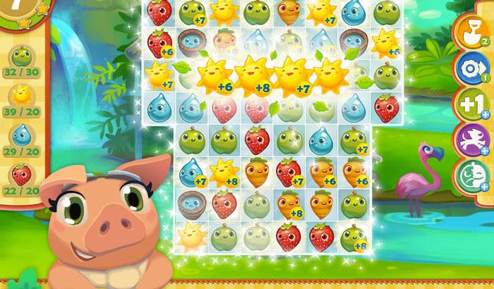 Farm Heroes Saga Puzzle iPhone and iPad Game Screenshot