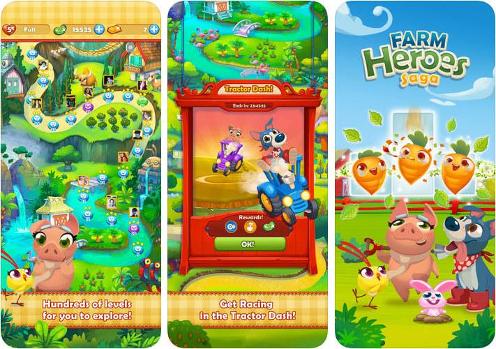 Farm Heroes Saga iPhone and iPad One-Handed Game Screenshot