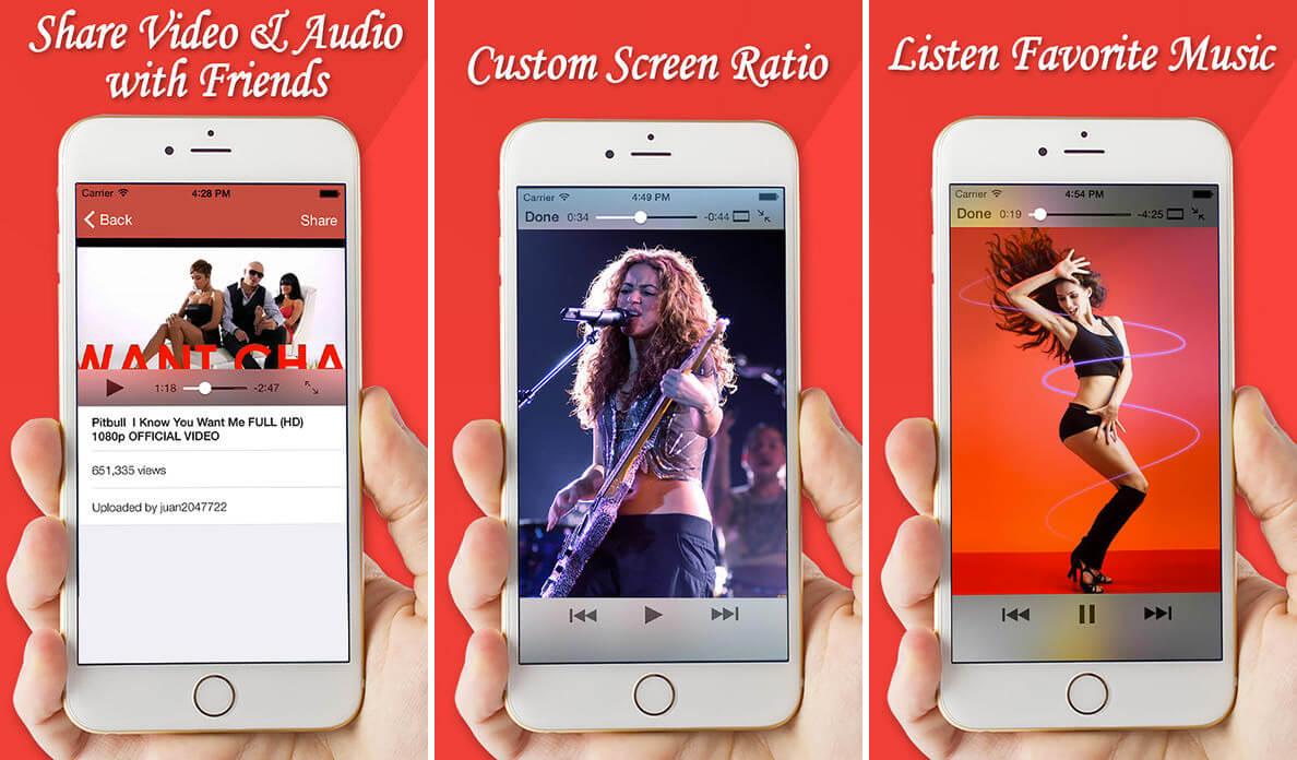 Fast Tube HD Video Player iPad App Screenshot