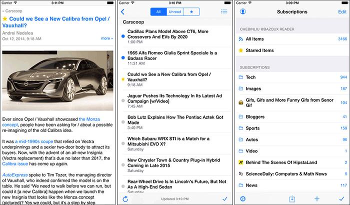 Feeddler RSS Reader iPhone and iPad App Screenshot