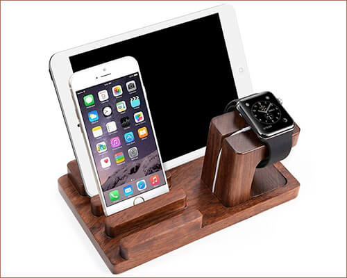 Feitenn Wooden Docking Station for iPhone Xs Max, Xs, and iPhone XR