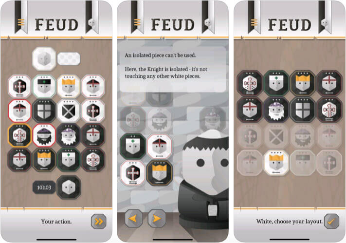Feud iPhone and iPad Turn Based Strategy Game Screenshot