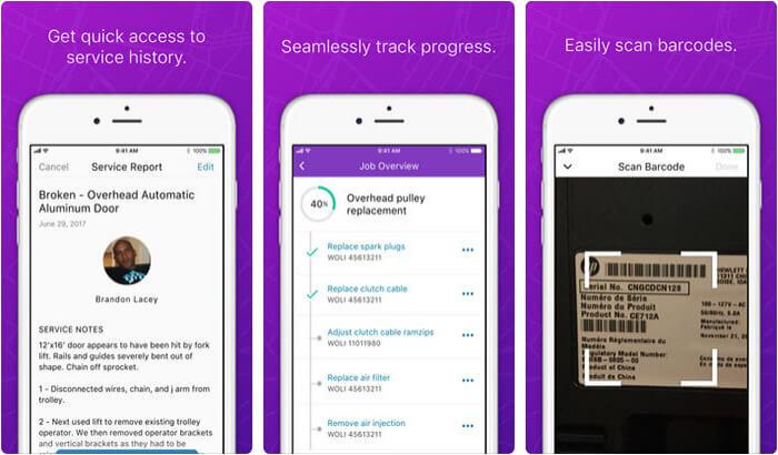 Field Service Lightning iPhone and iPad App Screenshot
