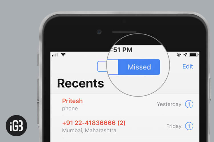 Filter Missed Calls on iPhone