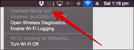 Find MAC Interface Name in Mac OS X