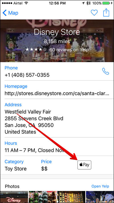 Find Store That Take Apple Pay on iPhone