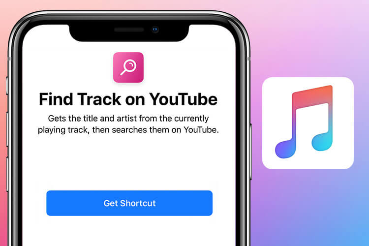 Find Track On YouTube Siri Shortcut