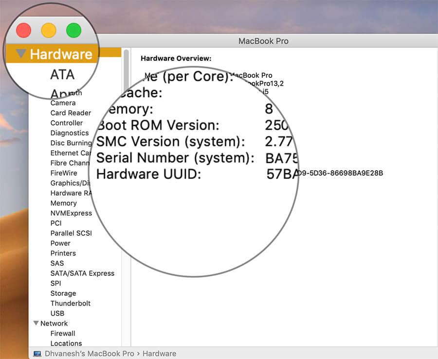 Find UUID-UDID of Mac