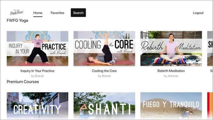 Find What Feels Good Apple TV Yoga App Screenshot