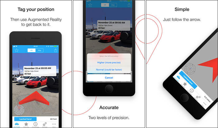 Find Your Car with AR iPhone App Screenshot