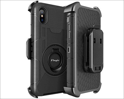 Fingic iPhone Xs Max Belt Clip Case