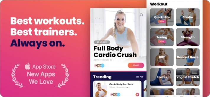 FitOn Fitness Workout Plans iOS App Screenshot