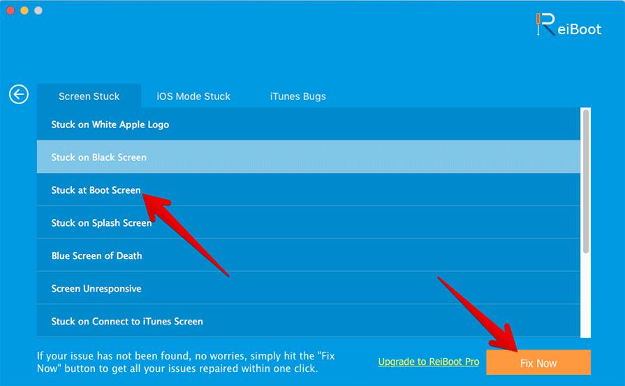 Fix iPhone X Stuck at Boot Screen using ReiBoot