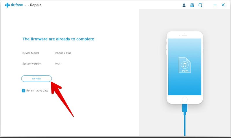 Fix iTunes Error 4014 using dr.fone Software