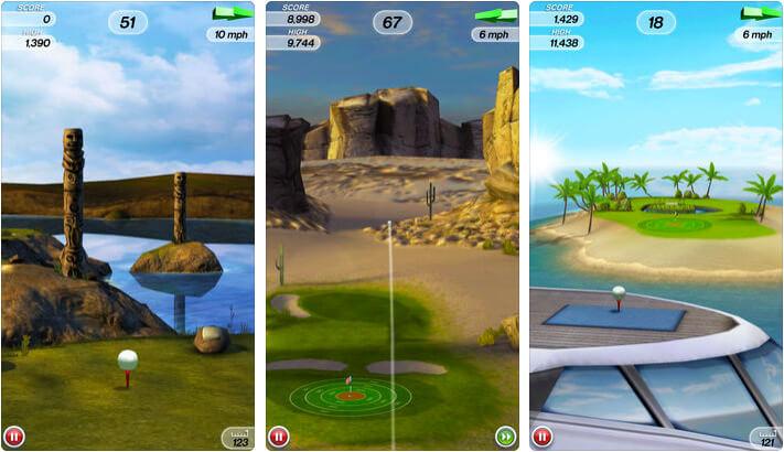 Flick Golf iPhone and iPad Game Screenshot