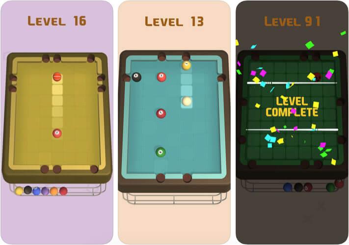 Flick Pool Star Game App for iPhone and iPad Screenshot