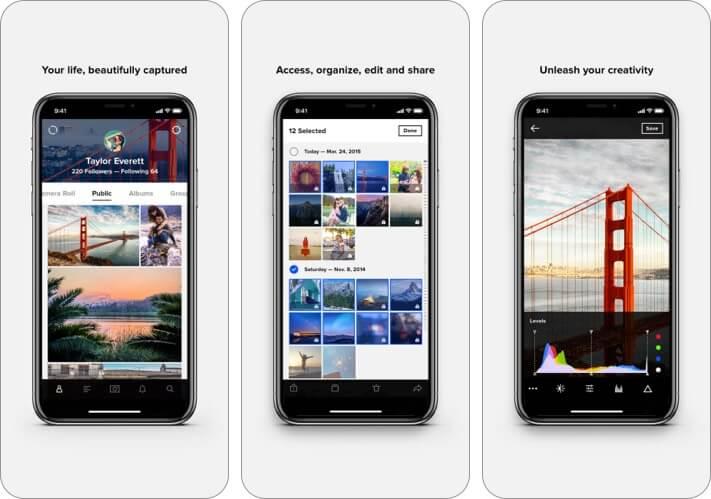 Flickr iPhone and iPad App Screenshot