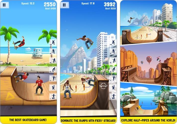 Flip Skater iPhone Skateboard Game Screenshot