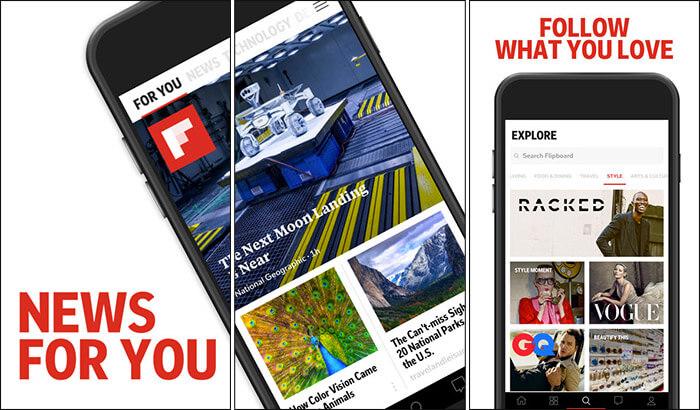 Flipboard News iPhone and iPad App Screenshot