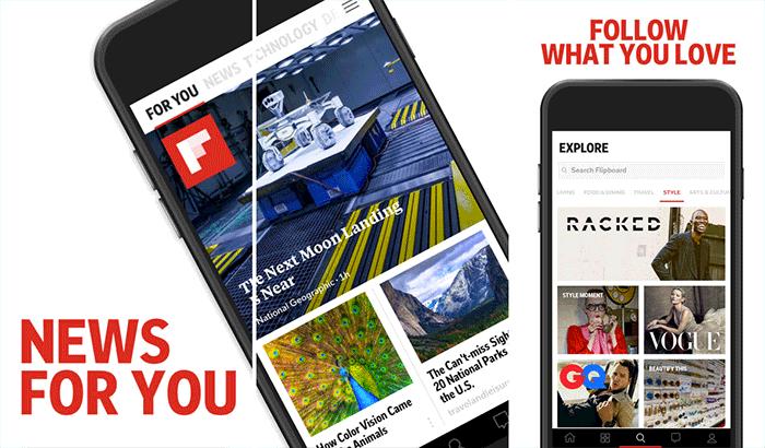 Flipboard RSS Reader iPhone and iPad App Screenshot