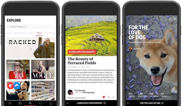 Flipboard iPhone and iPad App Screenshot