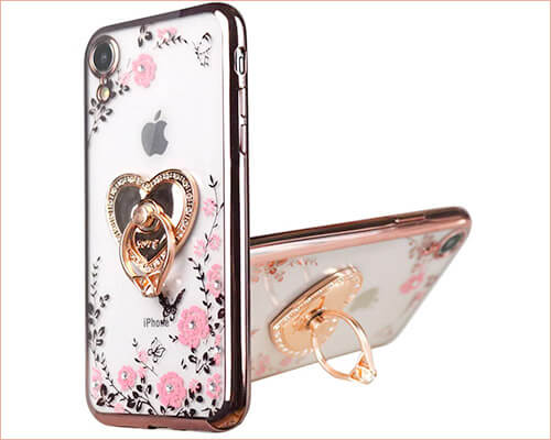 Flocute iPhone XR Ring Holder Case