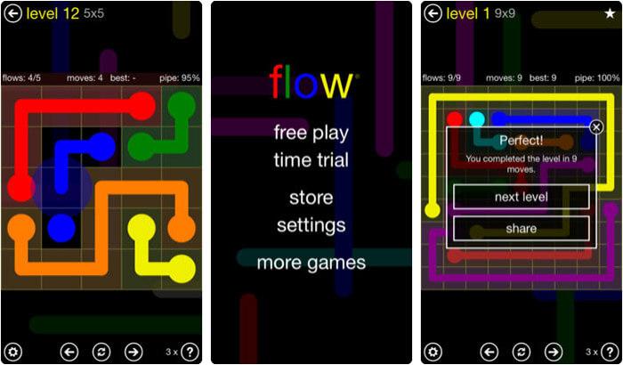 Flow Free iPhone and iPad Board Game Screenshot