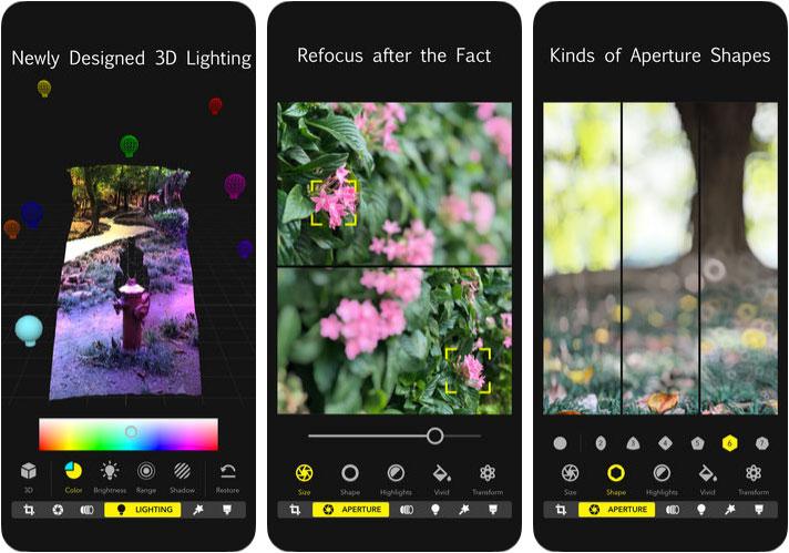 Focos iPhone and iPad App Screenshot