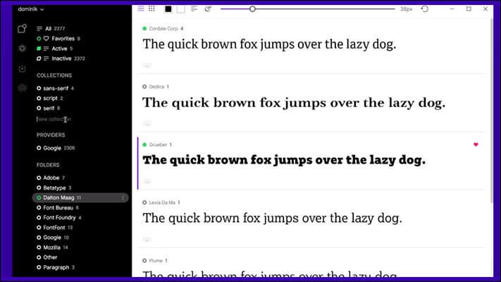 FontBase Font Manager for macOS