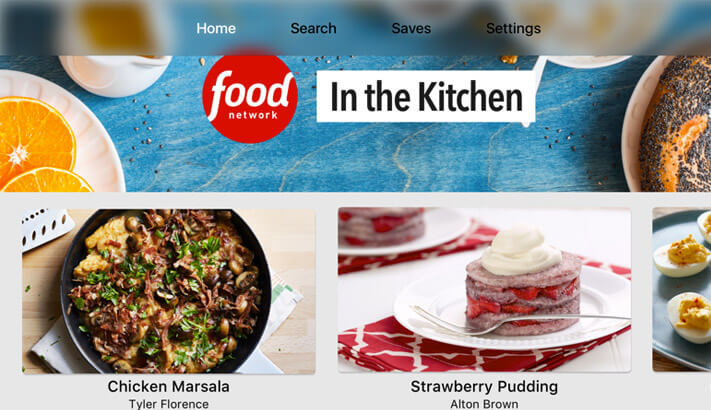 Food Network Apple TV Cooking App Screenshot