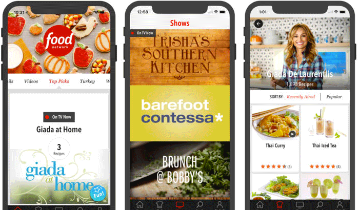 Food Network in the Kitchen iPhone and iPad App Screenshot