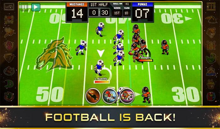 Football Heroes PRO 2017 iPhone and iPad NFL App Screenshot
