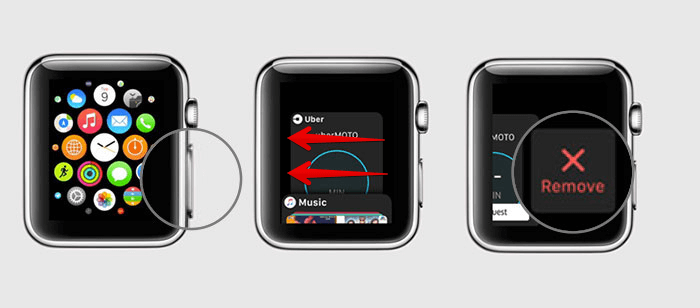 Force quit an app on Apple Watch