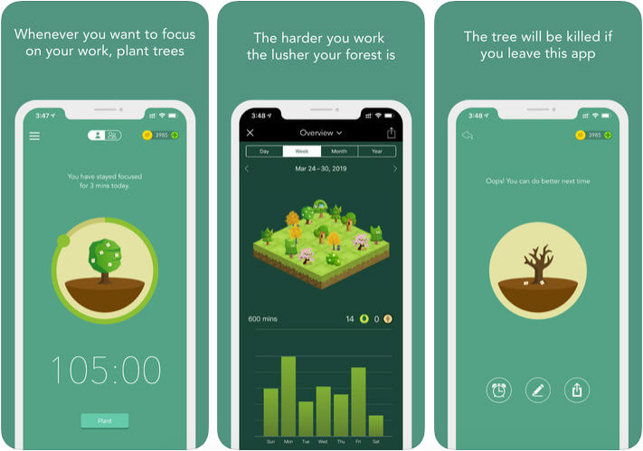 Forest iPhone and iPad App Screenshot