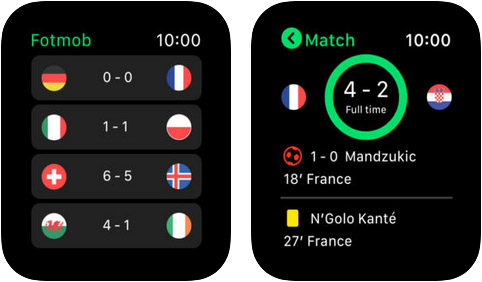 FotMob Live Soccer Scores Apple Watch App Screenshot