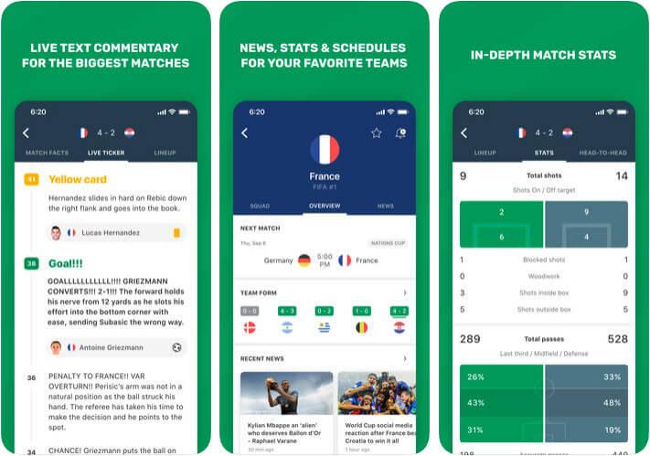 FotMob Live Soccer Scores iPhone and iPad FIFA App Screenshot