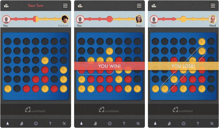 Four In A Row iPhone and iPad Board Game Screenshot