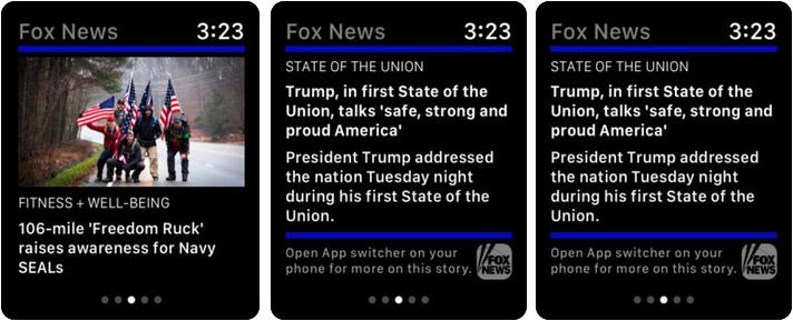 Fox News Apple Watch News App Screenshot