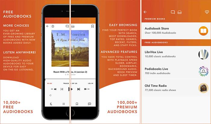 Free Audiobooks HQ iPhone and iPad App Screenshot