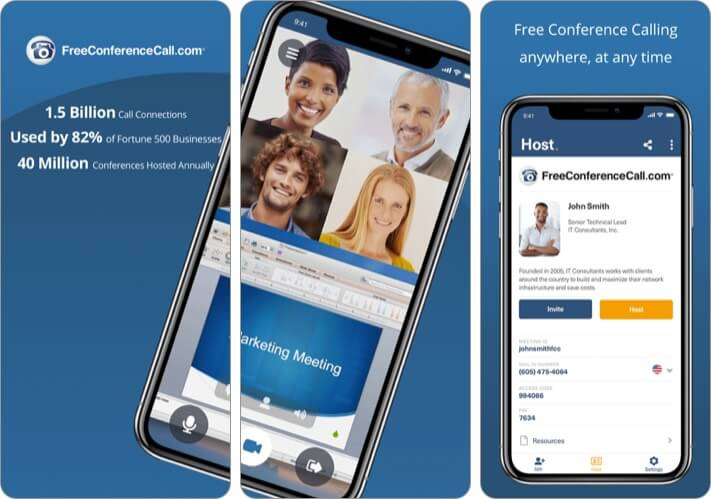 Free Conference Call iPhone and iPad App Screenshot