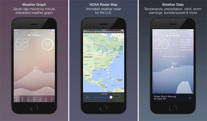 Fresh Air iPhone and iPad Weather App Screenshot
