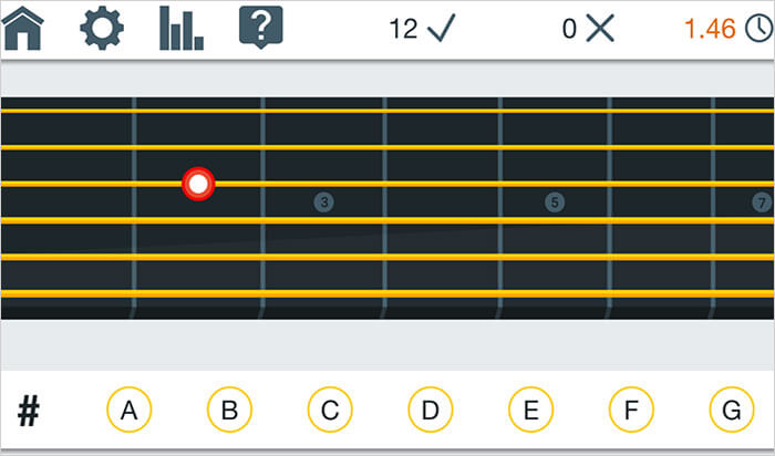 Fret Trainer Guitar Learning iPhone and iPad App Screenshot
