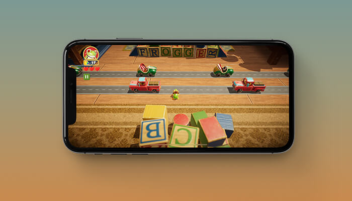 Frogger in Toy Town Apple Arcade Family Game for iPhone, iPad and Apple TV