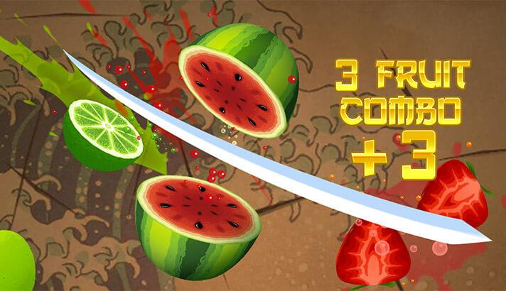 Fruit Ninja Classic iPhone and iPad Arcade Game Screenshot