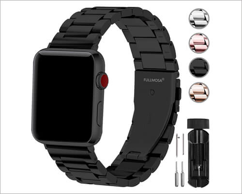 Fullmosa Stainless Steel Metal Band for Apple Watch Series 5